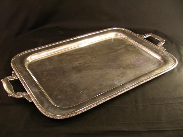 483: MANCHESTER STERLING SILVER TRAY COFFEE TEA SERVICE - 9