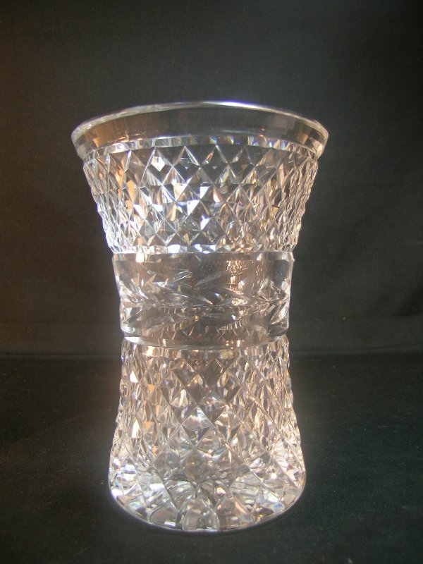 353: WATERFORD CUT CRYSTAL GLASS VASE