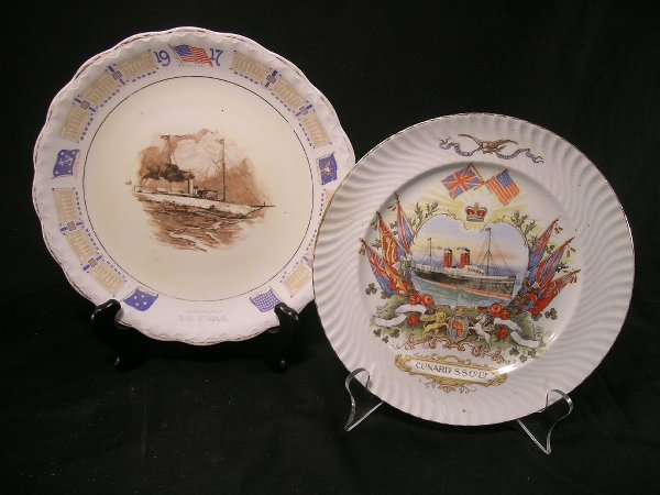 367: ANTIQUE SHIP PLATES CUNARD AND THE SEASON