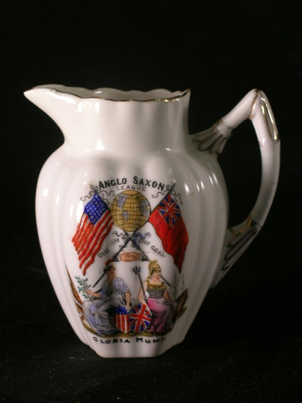 370: ANGLO SAXON LEAGUE SMALL ENGLISH PORCELAIN PITCHER