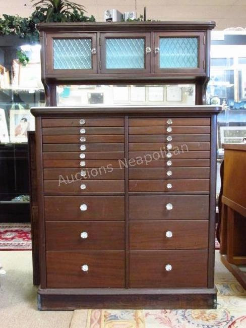 ANTIQUE AMERICAN CABINET CO. DENTAL CABINET