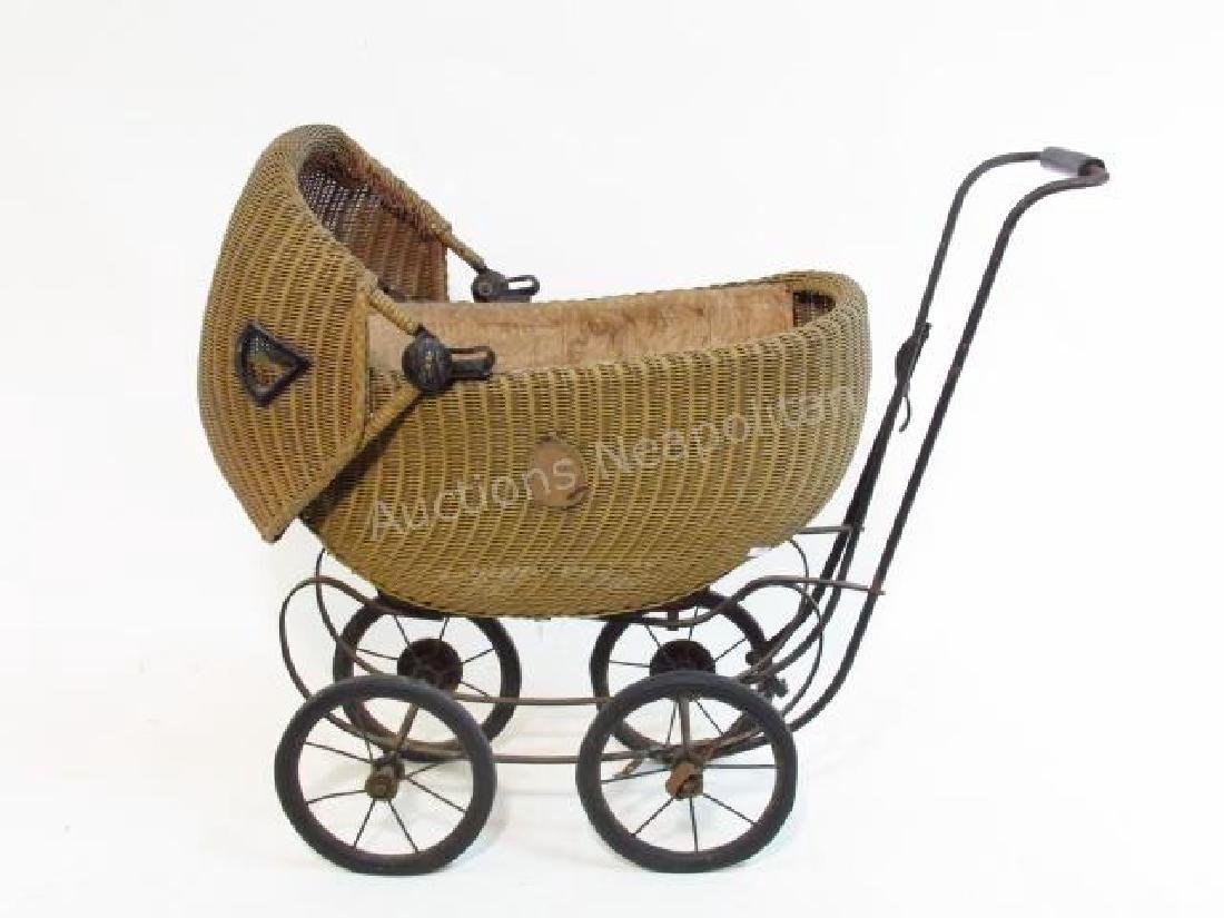 "EARLY 20TH C ""SHIRLEY TEMPLE"" BABY STROLLER BUGGY"