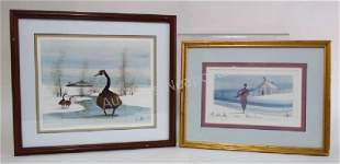 TWO P. BUCKLEY MOSS HAND SIGNED PRINTS