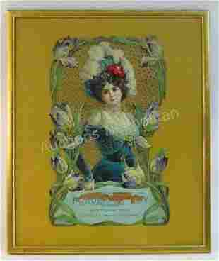 LARGE VICTORIAN LITHOGRAPHY ADVERTISING CALENDAR