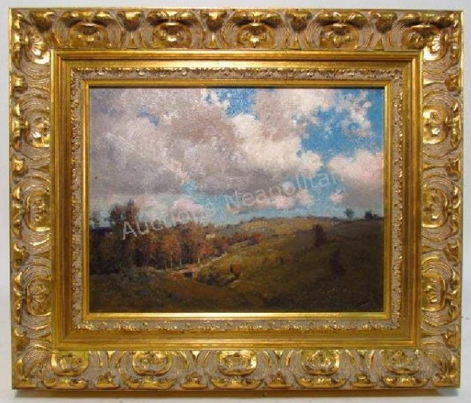 WILLIAM J. KAULA OIL ON BOARD LANDSCAPE PAINTING