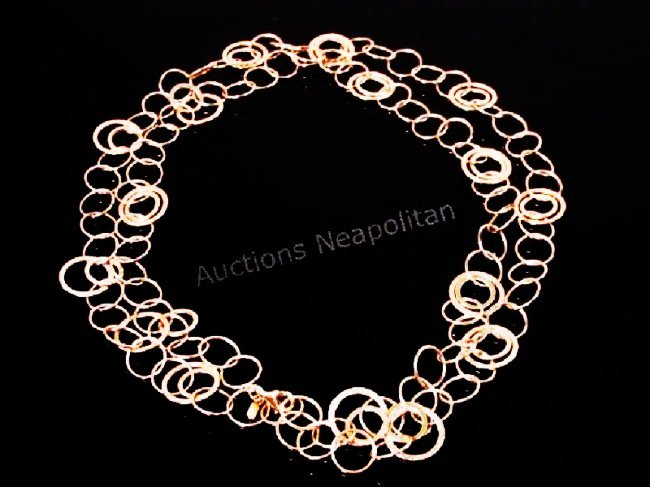 TURKISH 14K GOLD CHAIN LINK NECKLACE 13.3 GRAMS