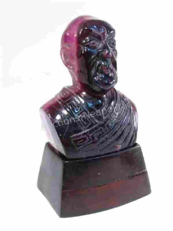 CARVED AMETHYST BUST
