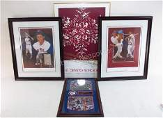 FOUR FRAMED PRINTS: CHRISTOPHER PALUSO, NY GIANTS