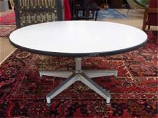 HERMAN MILLER STYLE PEDESTAL TABLE