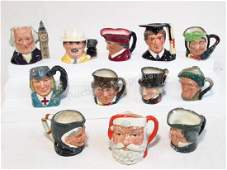 COLLECTION OF TWELVE ROYAL DOULTON CHARACTER MUGS