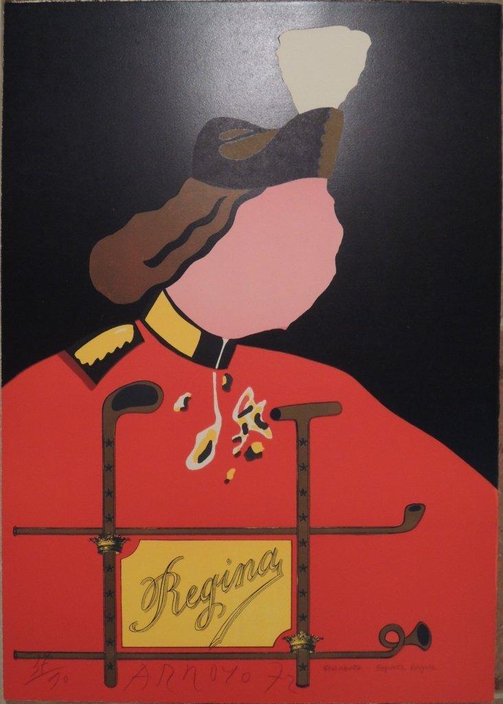 11: Eduardo Arroyo, Elisabetta - esporte royale, 1972