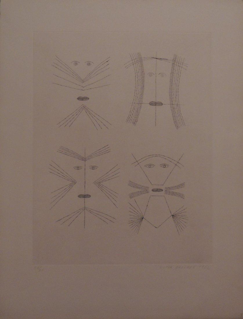 17: Victor Brauner, Codex d'un visage, 1962
