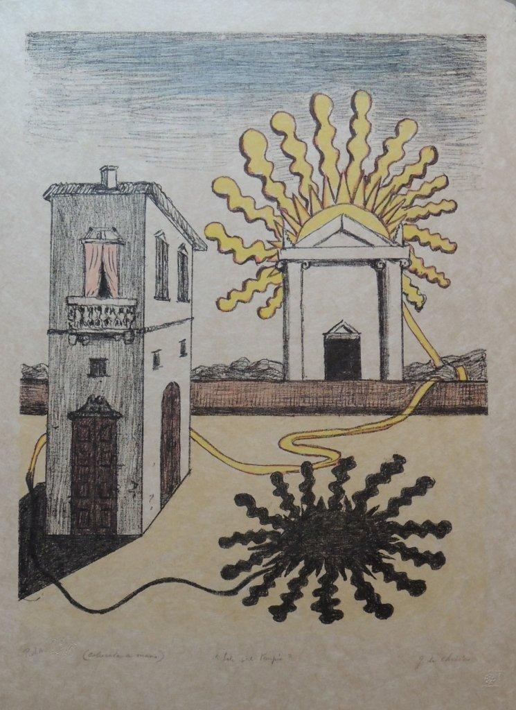 27: Giorgio De Chirico, Sole sul tempio, 1969