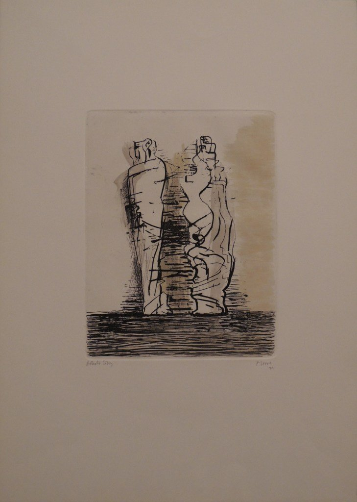 58: Henry Moore, Two draped standing figures, 1970