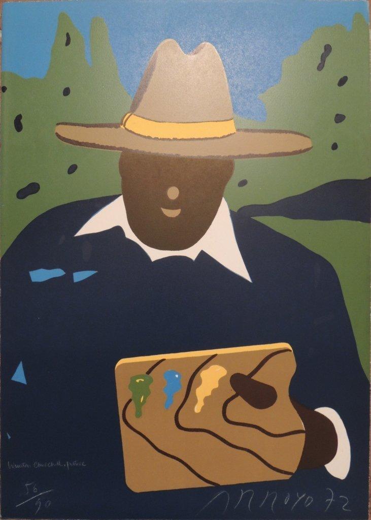 Eduardo Arroyo, Winston Churcill, pittore,  1972