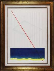 Agostino Bonalumi, Estroflessione su carta, 1985