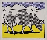 Roy Lichtenstein Cow going abstract 1982