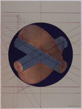 Arnaldo Pomodoro, Litografia E Collage, 1968