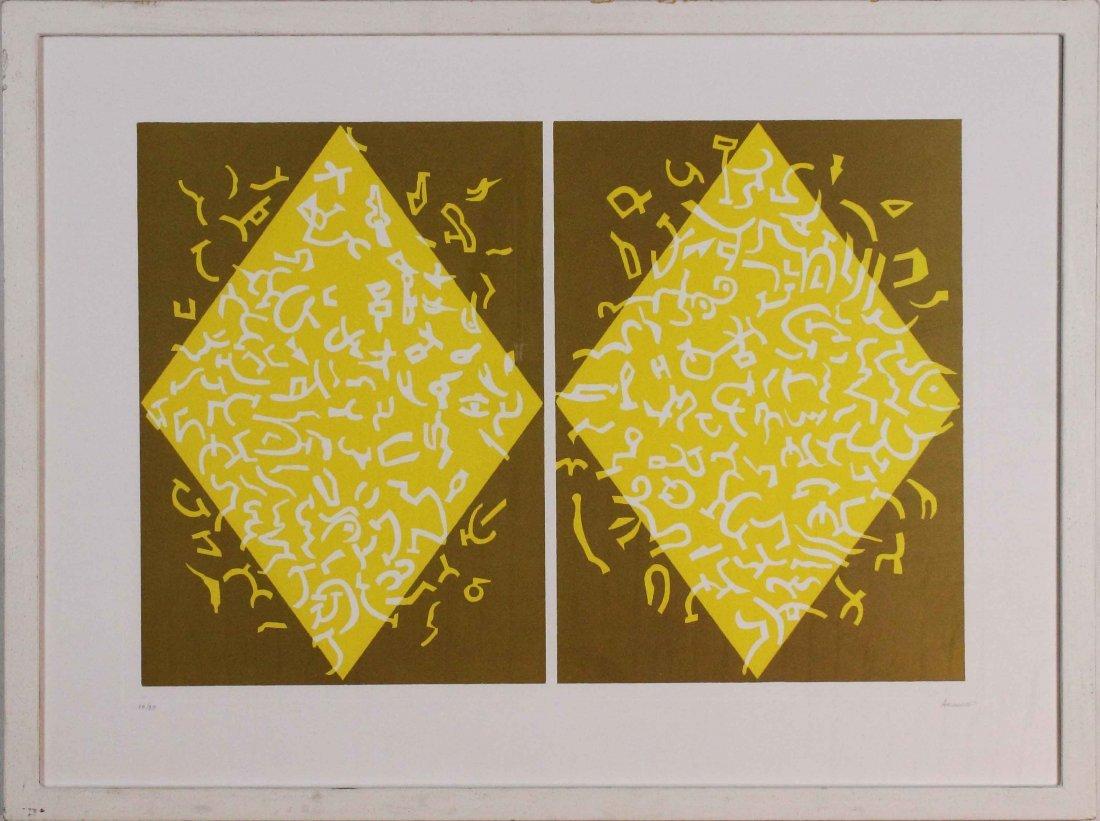 Carla Accardi, Rombi giallo oro, 2001