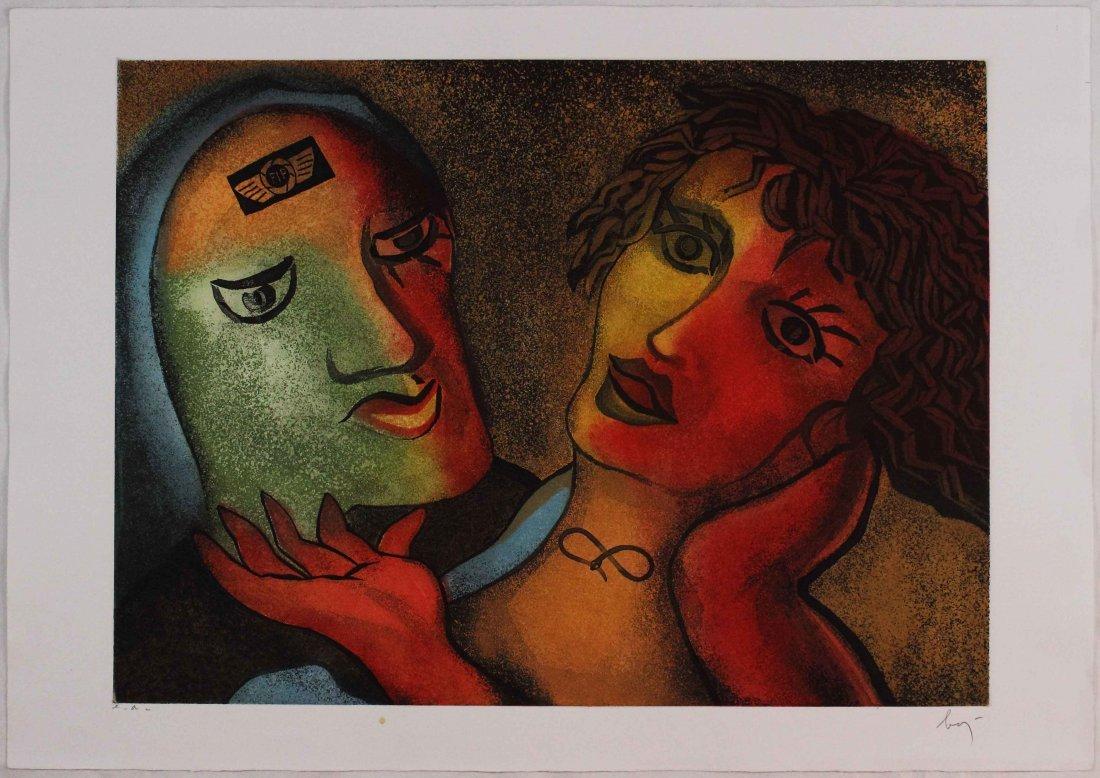 Enrico Baj, Gli amanti, 1990