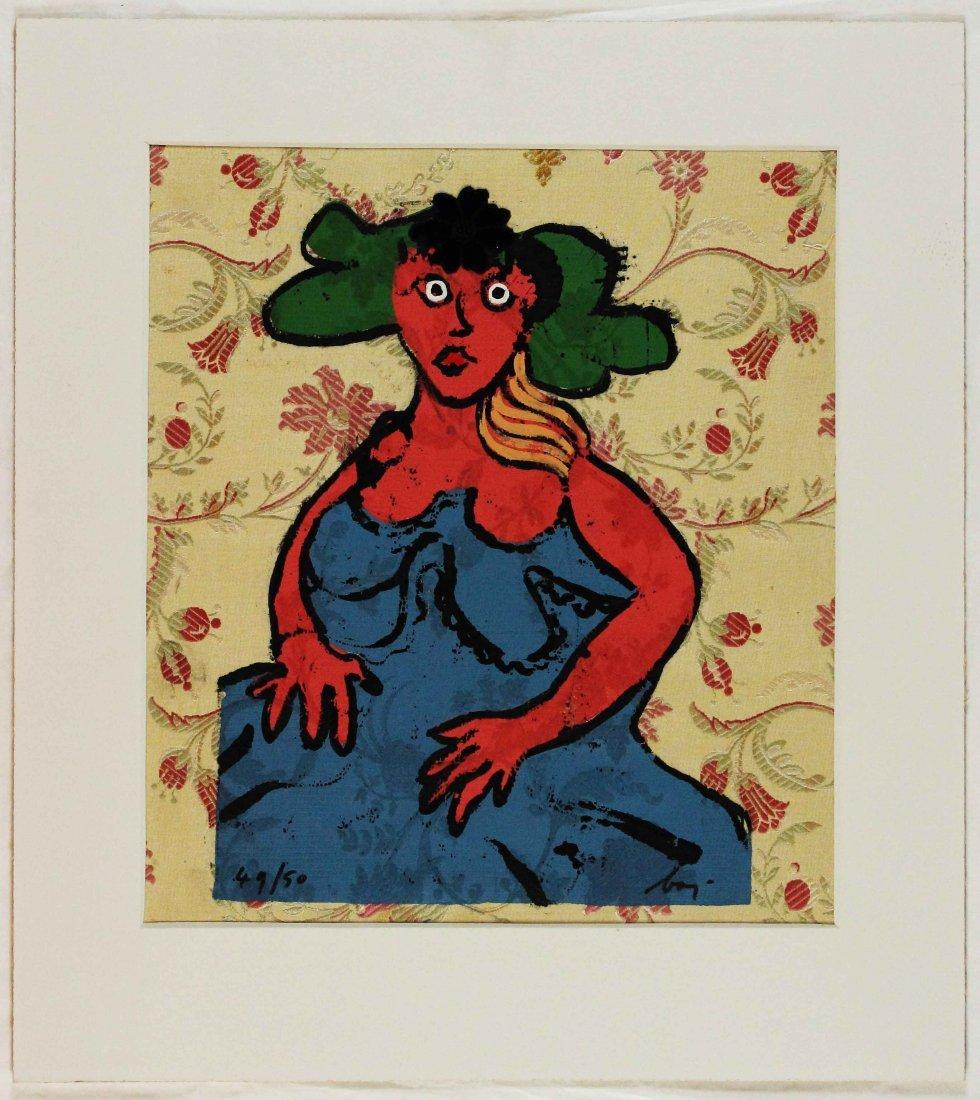Enrico Baj, La robe bleu, 1970