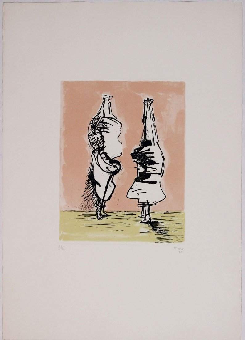 Henry Moore, Two figures talking, 1971