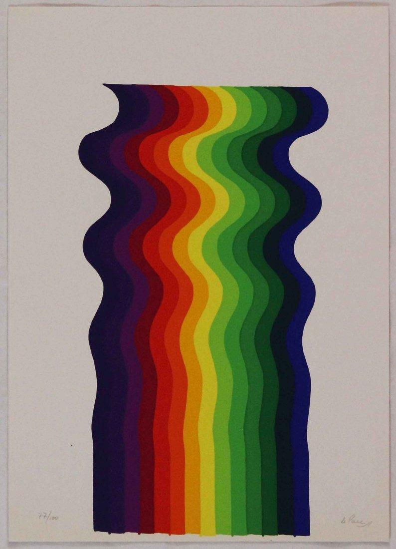 Julio Le Parc, Serigrafia a colori, 1977