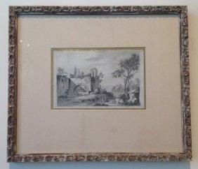 15: Italian Pencil Drawing 19th Century