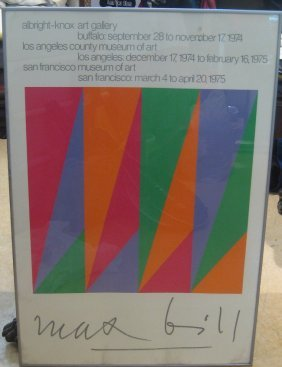 20: Max Bill Museum Exhibition Poster 1975
