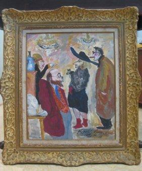 21: Hippolyte Romain Painting 1982 Marche aux Puces