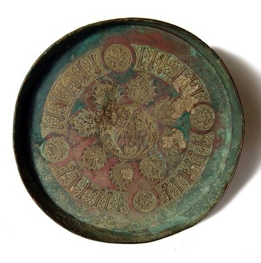 48: Seljuk bronze bowl w. beautiful decoration, Iran