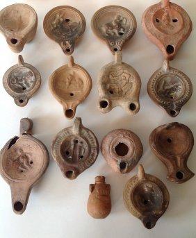 92: 14 Roman Oil Lamps