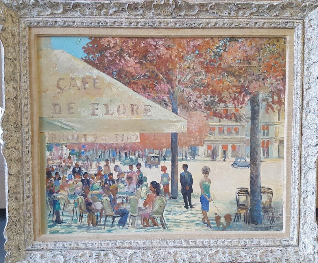 John Morris (1920 - 1991) Paris Street Cafe