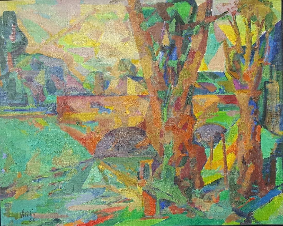 Macario Vitalis (1898-1990) Filipino French Modernist