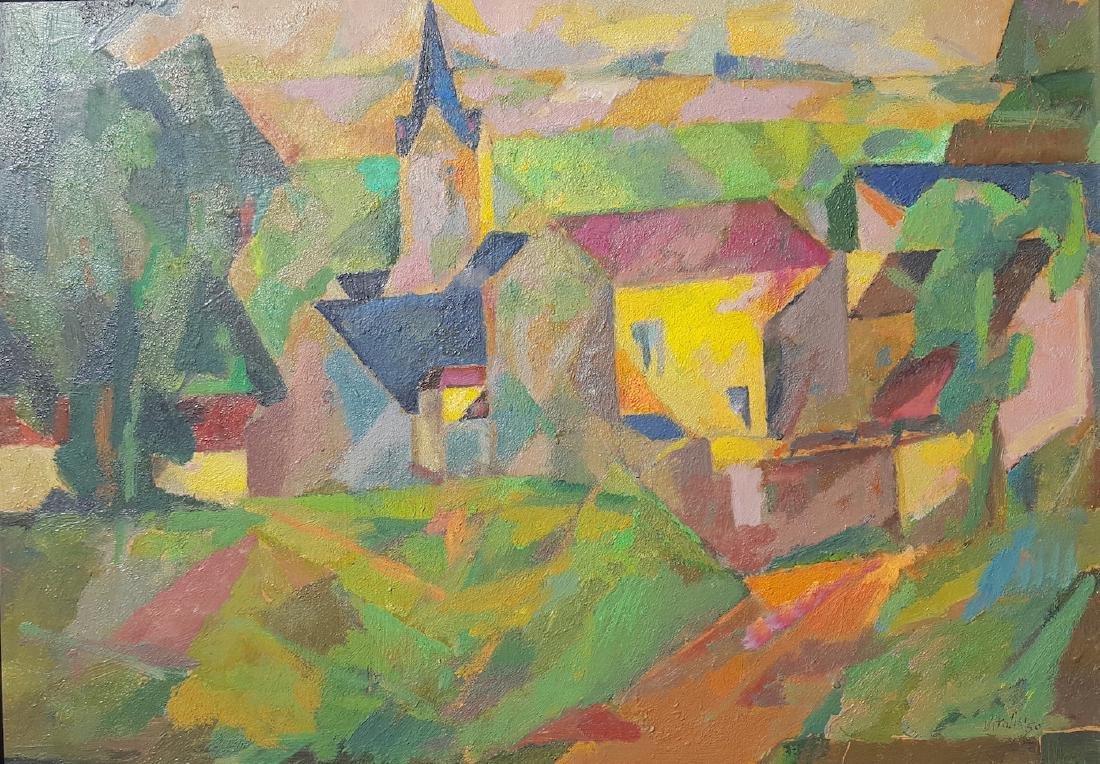 Macario Vitalis (1898-1990) Filipino French Cubist