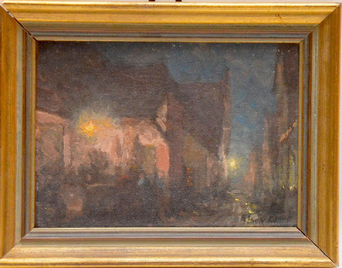 Alson Skinner Clark  (1876-1949) Painting Chicago City