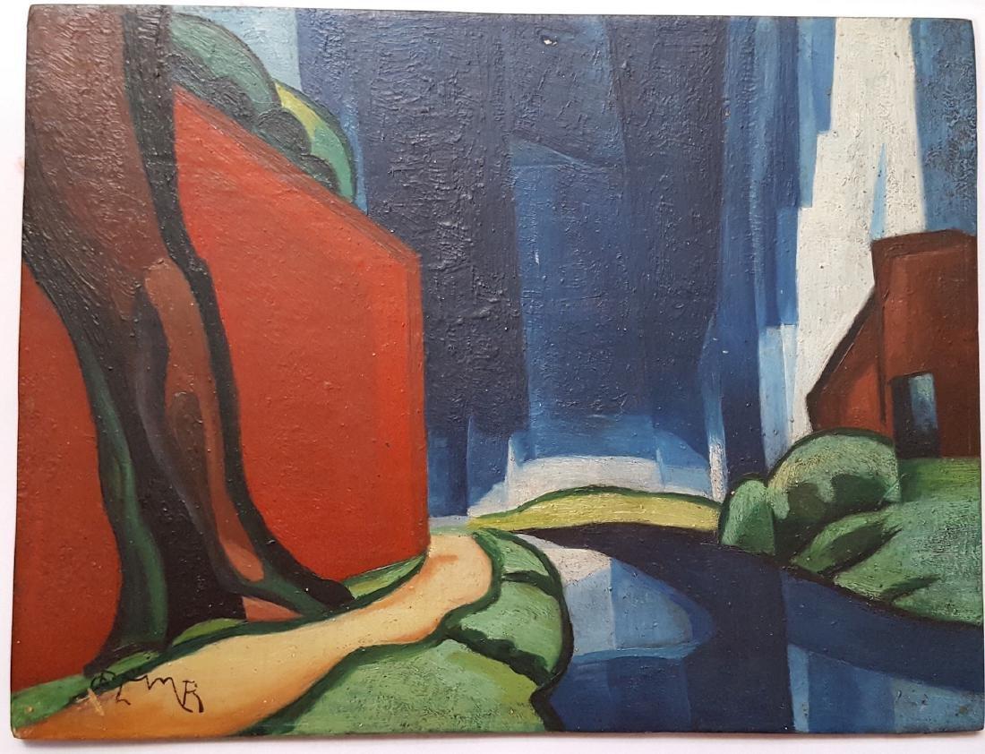 Oscar F. Bluemner (1867-1938) attr. modernist painting