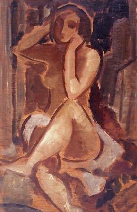John Buckland-Wright (1897-1954) Nude oil painting