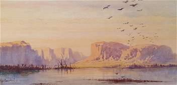 Gabriel Carelli Italian Orientalist Egypt Nile 19th