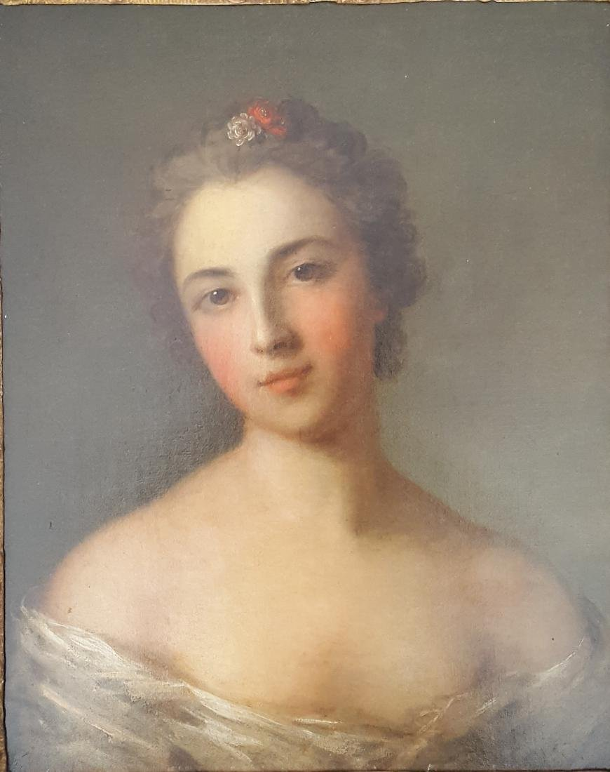 Old Master French Portrait of Lady Jean-Marc Nattier,