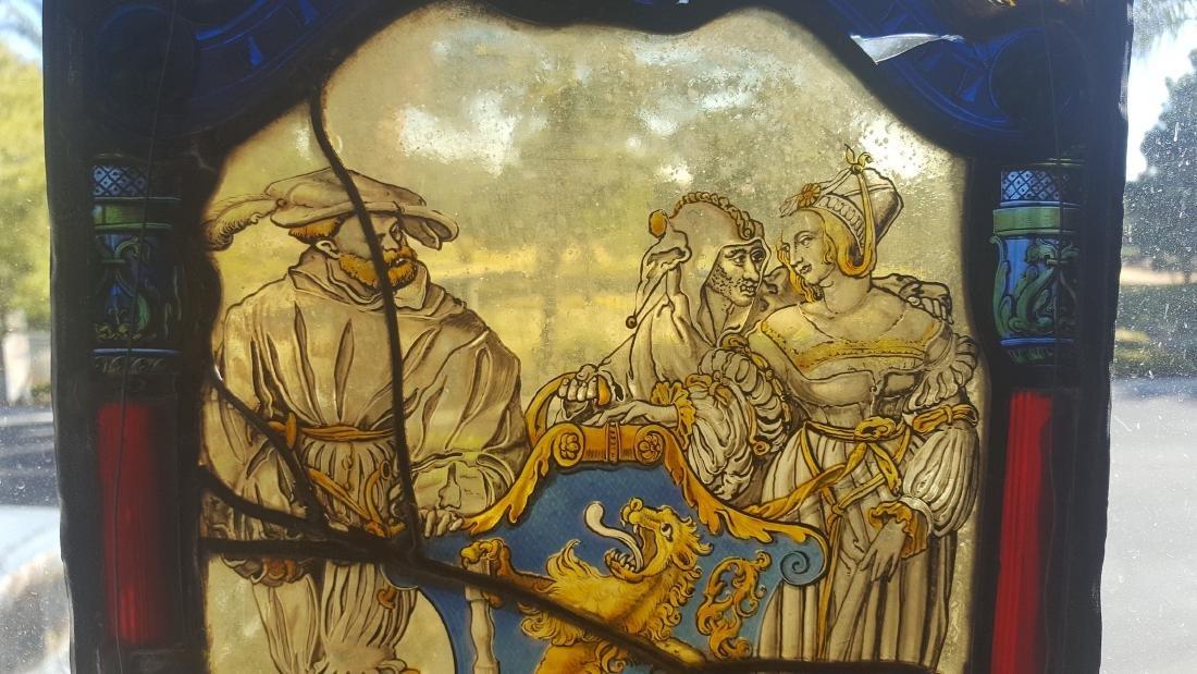 German Renaissance Stained Glass Heraldic Crest - 2