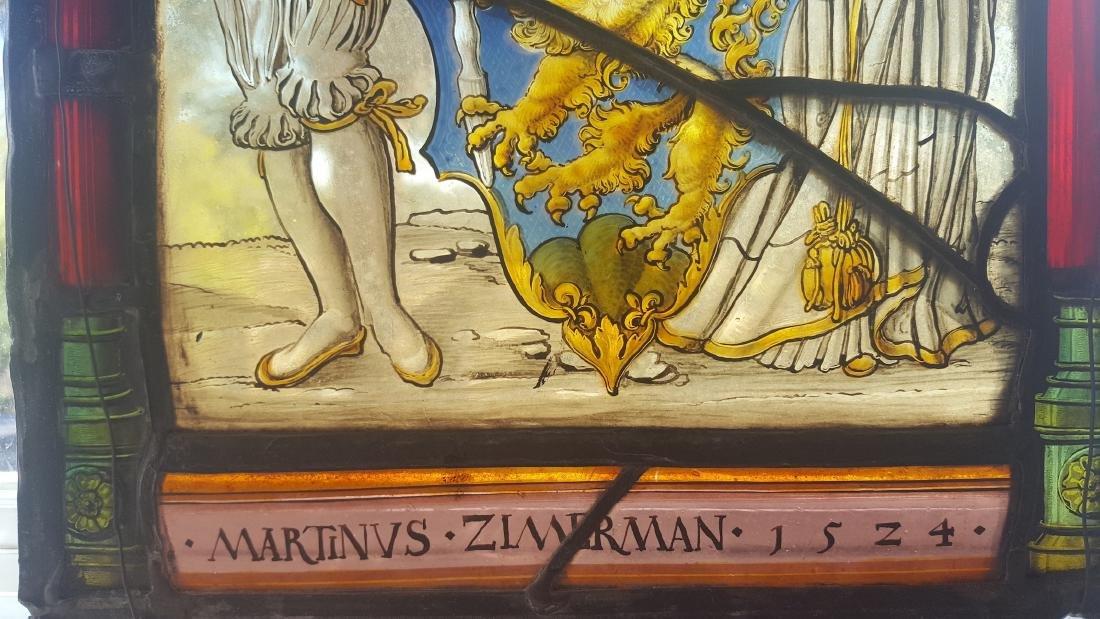 German Renaissance Stained Glass Heraldic Crest - 5