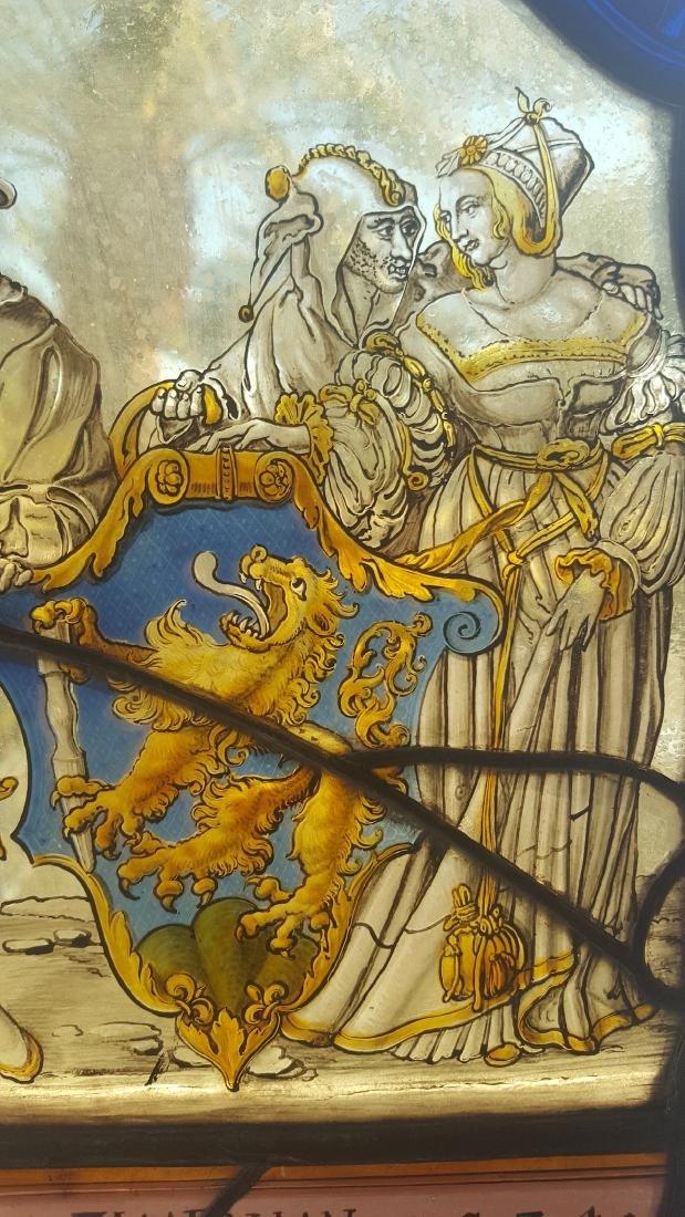 German Renaissance Stained Glass Heraldic Crest - 6