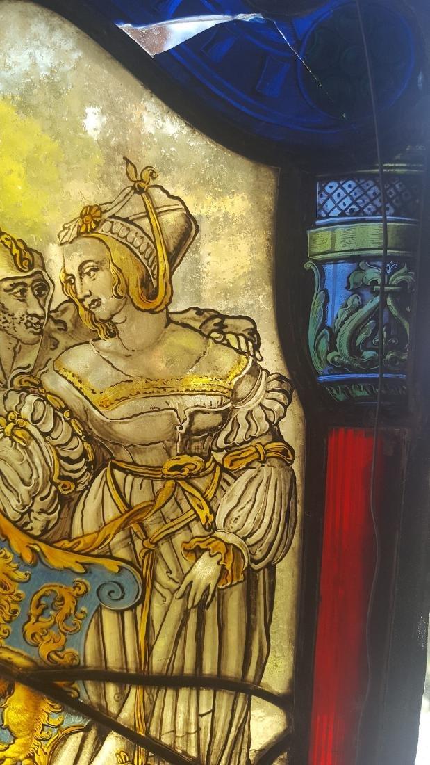 German Renaissance Stained Glass Heraldic Crest - 7