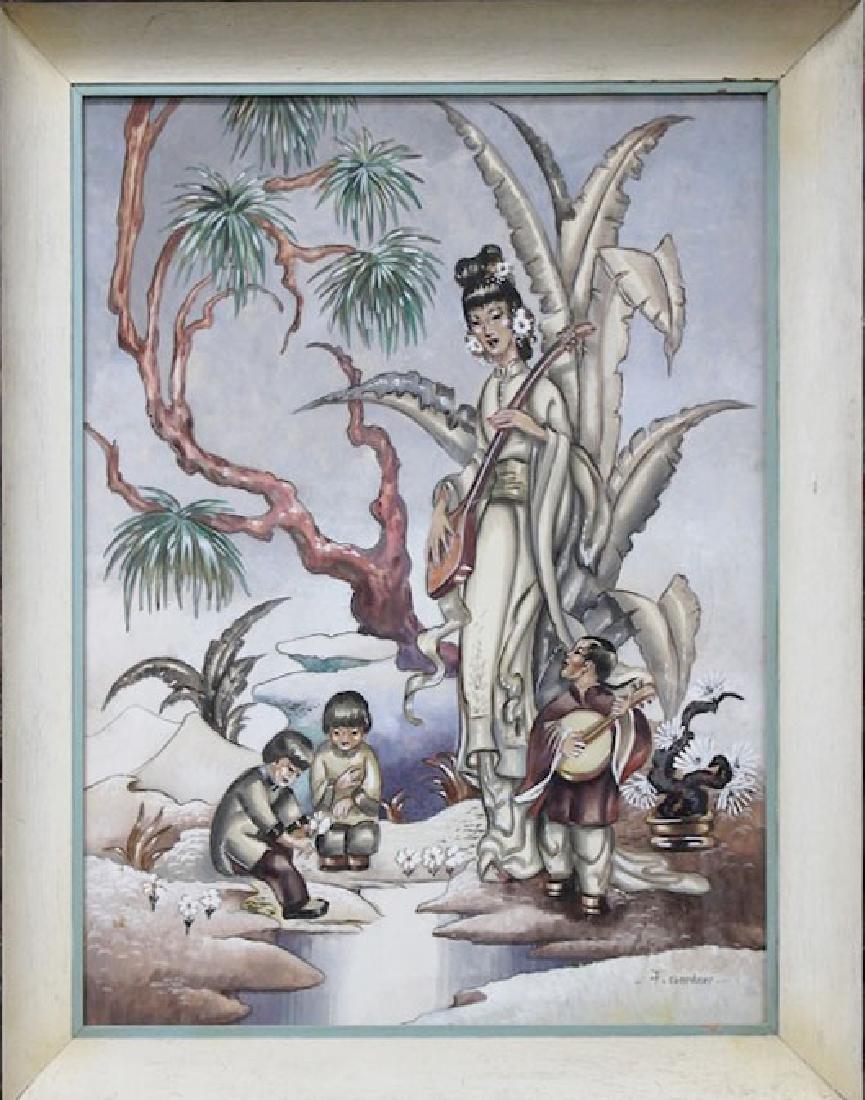 Asian Hollywood Regency Modernist James Mont style