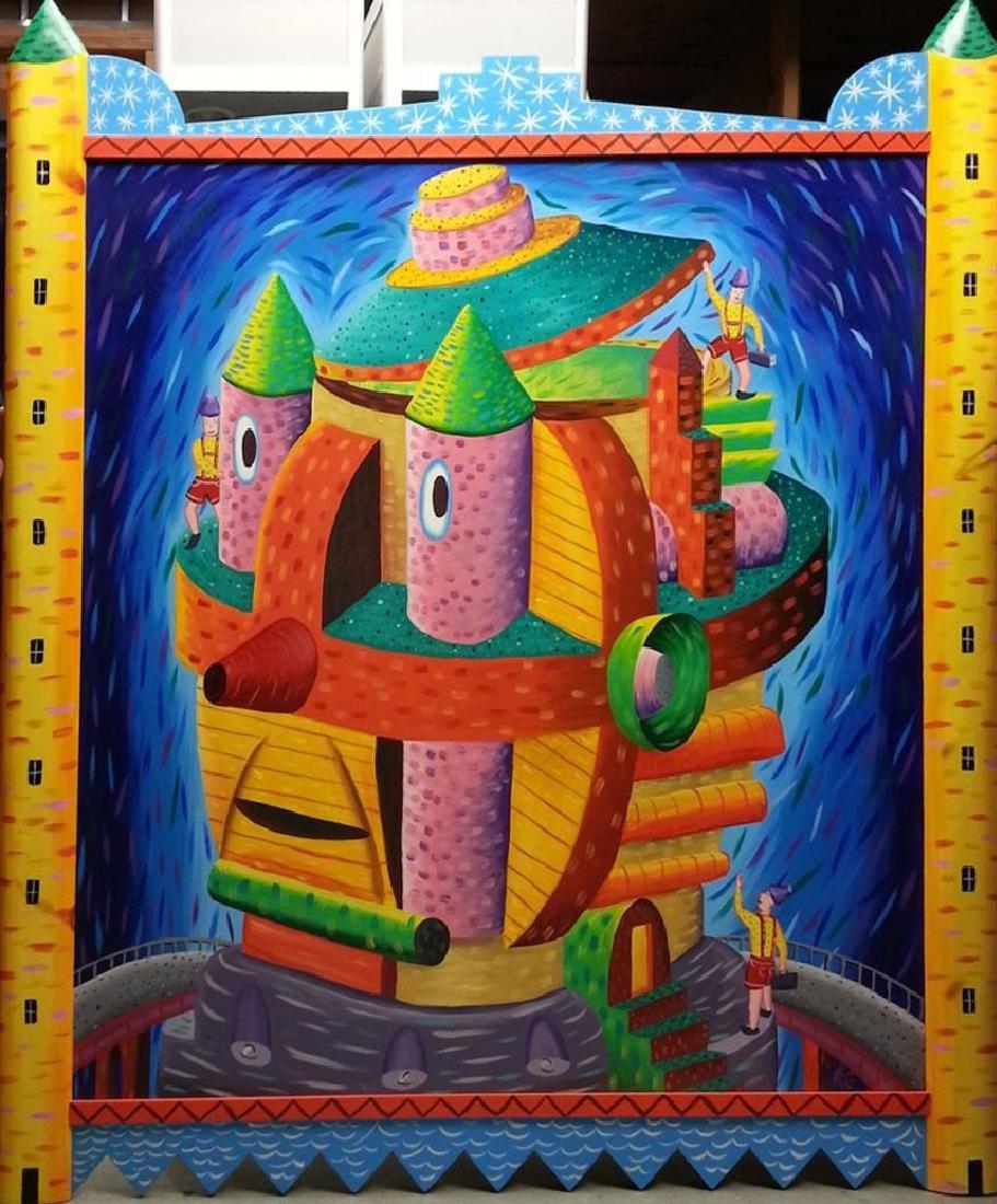 Rodney Alan Greenblat Urban Art HUGE Painting