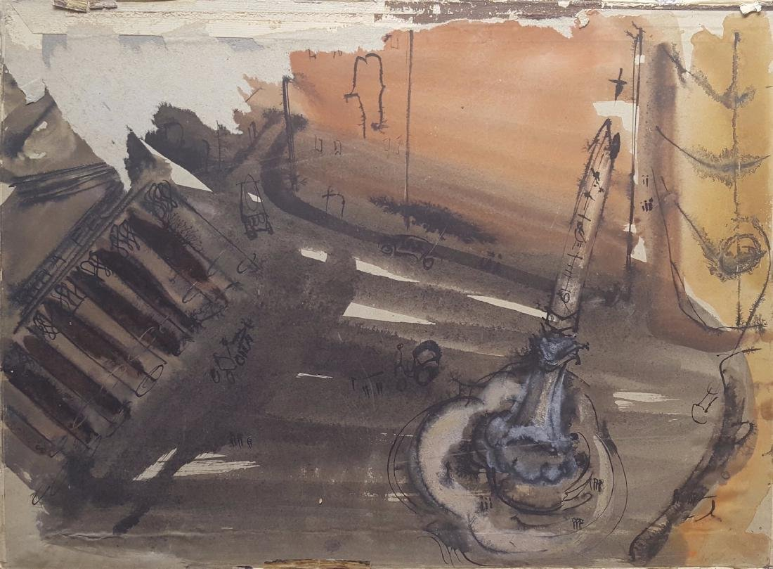 William G. Congdon (1912-1998) Italian Modern painting