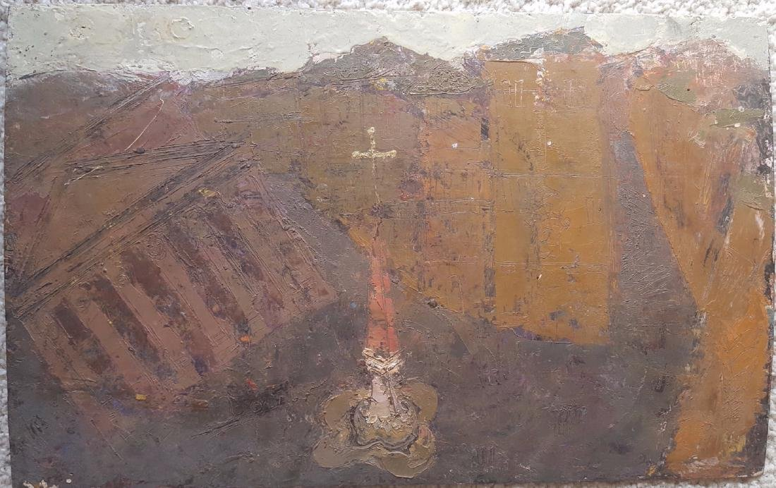 William G. Congdon Italian Modern Oil Painting