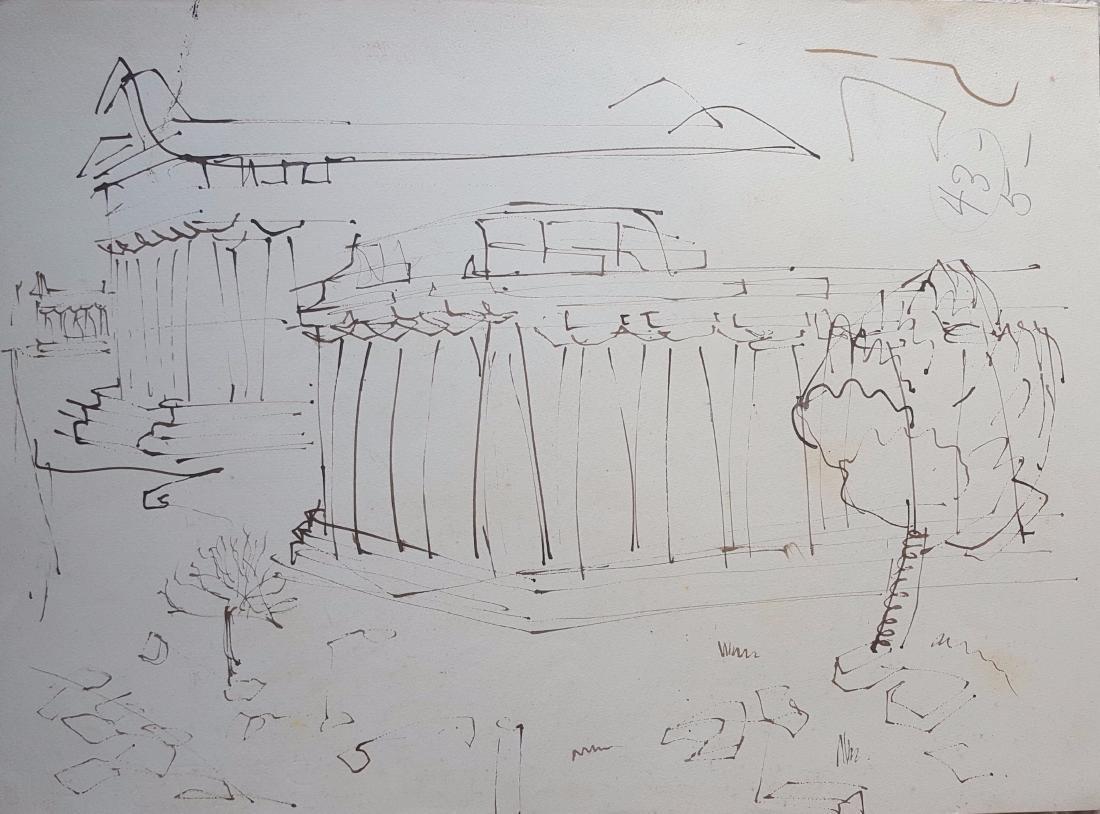 William G. Congdon (1912-1998) Italian sketches