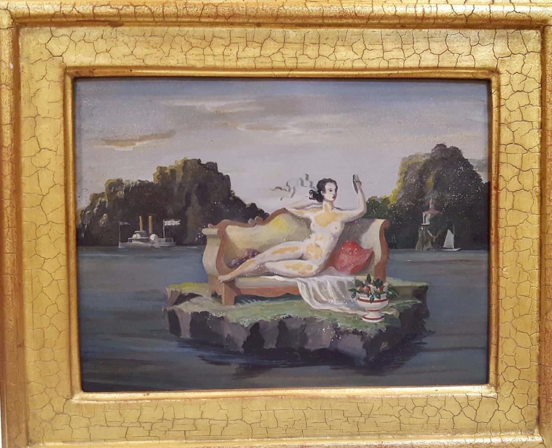 Harold Sterner (American, 1895-1976)  nude surrealist